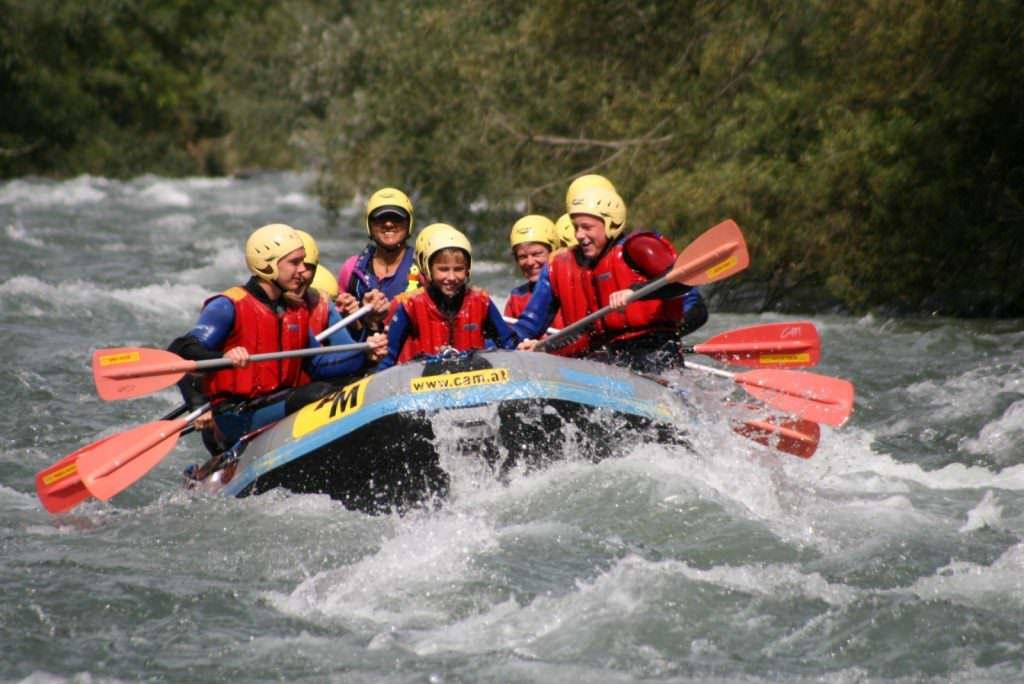 Rafting Wildwasserarena Mölltal Flattach Kärnten